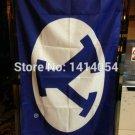 BYU Cougars Helmet Flag 3ftx5ft 90x150cm Banner 100D Polyester NCAA Flag style 1