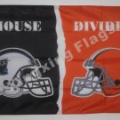 Carolina Panthers vs Cleveland Browns House Divided Rivalry Flag 90x150cm metal grommets