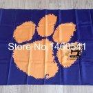 Clemson Tigers Helmet Flag 3ftx5ft Banner 100D Polyester NCAA Flag style 1