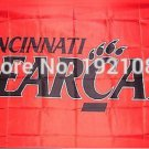 Cincinnati Bearcats Flag 3ftx5ft Banner 100D Polyester NCAA Flag style 1