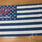 Washington Wizards with US stars and stripes Flag 3FTx5FT Banner 100D Polyester flag 90x150cm
