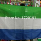 Sierra LeoneNational Flag 3x5ft 150x90cm 100D Polyester