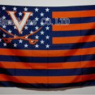 Virginia Cavaliers With Modified US Flag 3ft x 5ft Polyester NCAA Brass Grommets