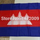 Cambodia National Flag 3x5ft 150x90cm 100D Polyester