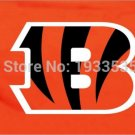Cincinnati Bengals logo car flag 12x18inches double sided 100D Polyester NFL