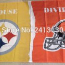 Pittsburgh Steelers vs Cleveland Browns House Divided Rivalry Flag 90x150cm metal grommets