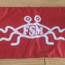 Flying Spaghetti Monster Flag, New, Red & White, 3x5ft Polyester
