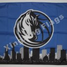 Dallas Mavericks skyline Large Outdoor 3 x 5ft Banner Flag 90x150cm 2 metal grommets