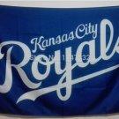 Kansas Royals logo flag 3ftx5ft 100D Polyester Flag Brass Grommets MLB