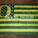 Oregon Ducks logo with US stars and stripes Flag 3FTx5FT Banner style 1