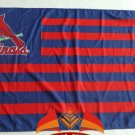 St Louis Cardinals logo with stripes Flag 3x5FT MLB Banner
