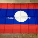 Laos National Flag 3x5ft 150x90cm 100D Polyester