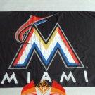 Miami Marlins logo flag 3ftx5ft Banner 100D Polyester MLB Flag Brass Grommets