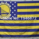 Golden State Warriors with stars and stripes 3X5ft Banner 100D Polyester Flag