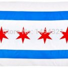 New Chicago City Illinois IL American Flag 3' X 5' 3ft X 5ft Polyester Outdoor