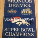 Broncos Denver Super Bowl Champions Flag 3ft x 5ft Polyester NFL flag