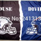 Carolina Panthers vsDenver Broncos House Divided Rivalry Flag 90x150cm metal grommets