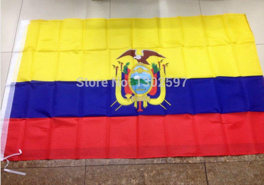 Ecuador National Flag 3x5ft 150x90cm 100D Polyester