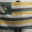 Oakland Athletics Nation Flag Stripe 3ft x 5ft Polyester MLB Custom flag