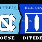 tar heels vs blue devils House Divided Rivalry Flag 90x150cm metal grommets
