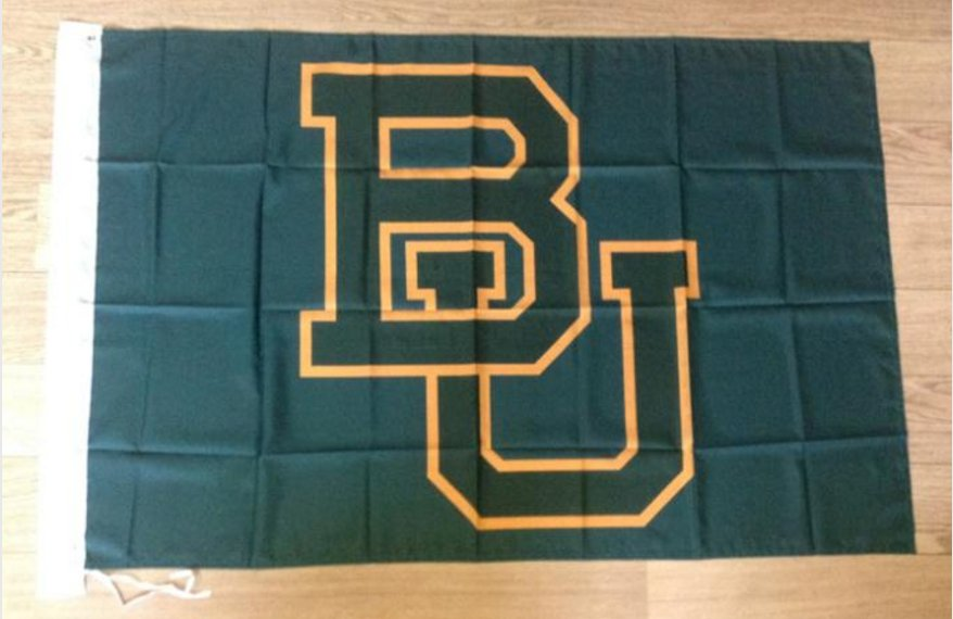 Baylor Bears 3ftx5ft Banner 100D Polyester NCAA Flag