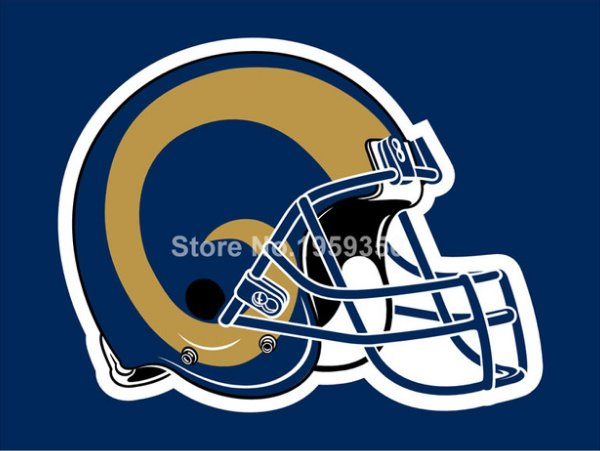 Los Angeles Rams Helmet logo car flag 30x45cm double sided 100D Polyester