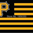 Pittsburgh Pirates Flag with stripes3ft x 5ft Polyester fans flags