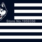 Connecticut Huskies With Modified US Flag 3ft x 5ft Polyester NCAA style 2