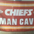 Kansas City Cheifs man cave flag 3ftx5ft Banner 100D Polyester Flag metal Grommets