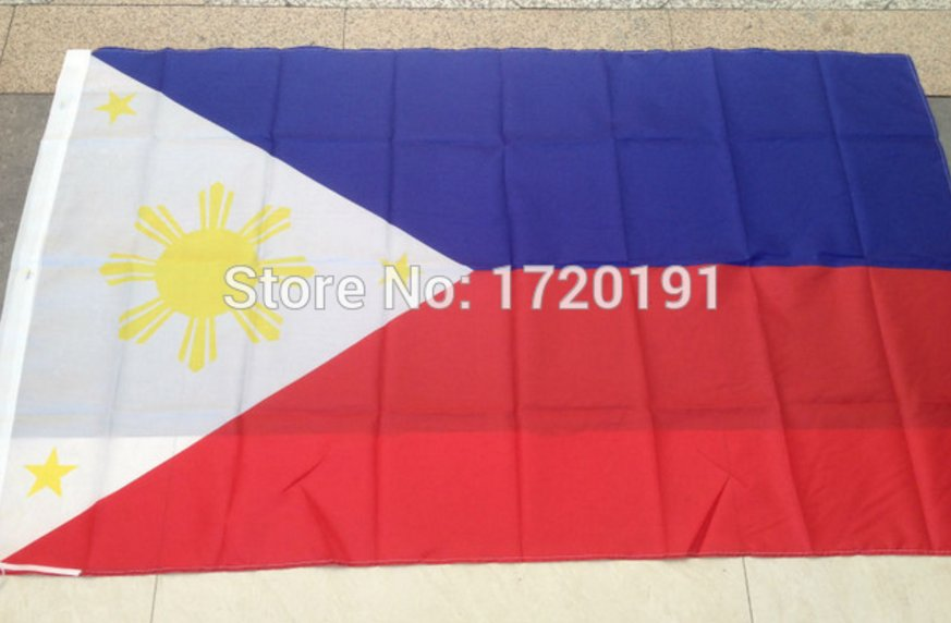 Philippines National Flag 3x5ft 150x90cm 100D Polyester