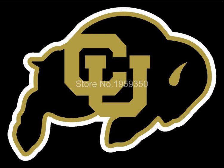 Colorado Buffaloes Helmet Flag 3ftx5ft Banner 100D Polyester NCAA Flag style 3