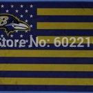 Baltimore Ravens logo with stars and stripes Flag 3FTx5FT Banner 100D Polyester flag 90x150cm