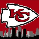 Kansas City Cheifs skyline Large Outdoor 3 x 5ft Banner Flag 90x150cm 2 metal grommets