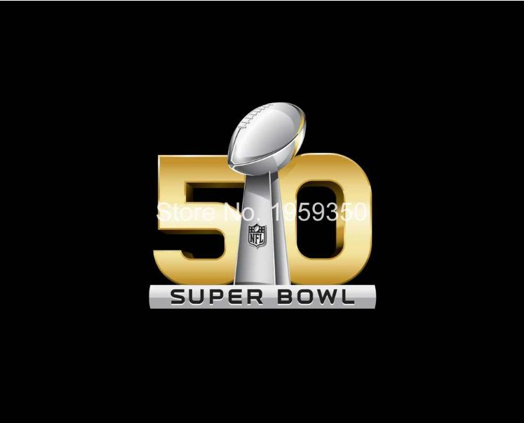 50th SuperBowl Flag 90x150cm metal grommets style 1