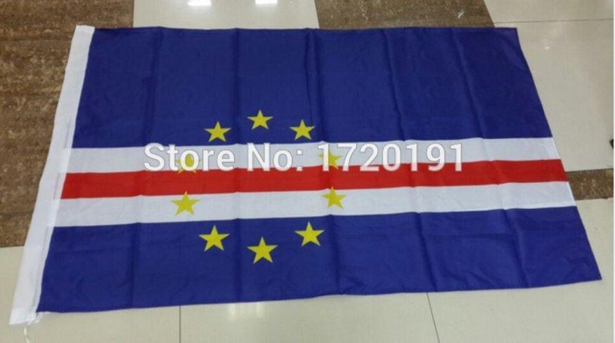 Cape Verde National Flag 3x5ft 150x90cm 100D Polyester