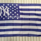 New York Yankees logo with stars and stripes Flag 3FTx5FT Banner 100D Polyester flag 90x150cm