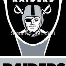 Oakland Raiders vertical flag 3ftx5ft Banner 100D Polyester Flag metal Grommets