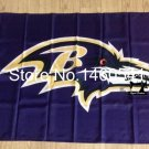 Baltimore Ravens purple bankground Flag 3FTx5FT Banner 100D Polyester flag 90x150cm