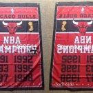 Chicago Bulls Champions Flag 3ft x 5ft Polyester 90X150cm 2 metal grommets banner