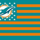 Miami dolphins flag 100D Digital printing NFL banner 3x5 FT