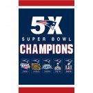 New England Patriots Flag Banner Super Bowl Champions Flags 3x5 Ft