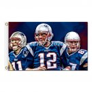 New England Patriots Flag Football 3ft X 5ft Banner Super
