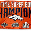 Denver Broncos 3 Time Super Bowl Champions Flag 150X90CM
