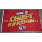 Kansas City Chiefs with Chiefs Kingdom Flag 3x5FT