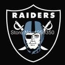 Oakland Raiders Logo Flag 3FTx5FT 100D Polyester 90x150cm white sleeve
