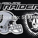 Oakland raiders new helmet Flag 3x5 FT 150X90CM NFL Banner 100D Polyester