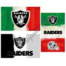 Oakland Raiders flags 3ftx5ft Green white red Stripes Banner 100D Polyester