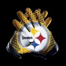 Pittsburgh Steelers 2 Gloves 3x5 ft flag 100D Polyester flag 90x150cm