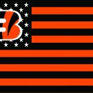 Cincinnati Bengals with US stars and stripes Flag 3FTx5FT