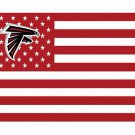 Atlanta Falcons US flag with star and stripe 3x5 FT Banner